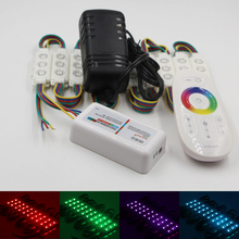 20pcs 5050 RGB LED modules store front window decoration Lamp DC 12V 3LED Injection Strip Light+2.4G remote and 3A power adapter