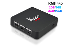 10pcs KM8 PRO Android TV Box 2GB/16GB Amlogic S912 Octa Core 2.4G/5GHz Dual WIFI BT4.0 17.0 4K Media Player 2GB/8GB(China)