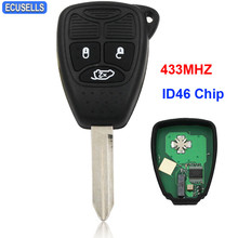 3 Button Remote Key Smart Car Key Fob Keyless Entry 433MHZ with ID46 Chip for Chrysler 300C C300 PT Cruiser Sebring Uncut Blade(China)