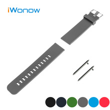 Silicone Rubber Quick Release Watch Band 22m for LG G Watch W100 / R W110 / Urbane W150 Strap Wrist Belt Bracelet Black Blue