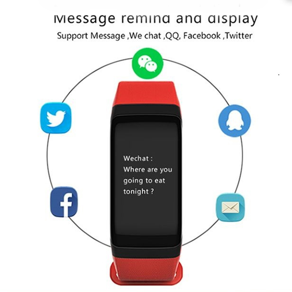 F1 Bluetooth Smart Watch Waterproof Sports Wristband,  Pedometer Heart Rate Monitor Calories Bloodoxygen For iOS Android Phones