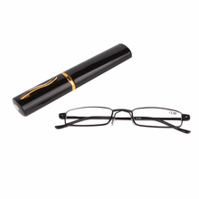 2017 New Reading Glasses Men Women Metal With Tube Case Fashion Colors Read Glasses 1.00-4.00 Diopter(China)