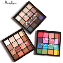 MARIA AYORA 16 Color Matte Eyeshadow Palette Naked Earth Colors Shimmer Glitter Nude Eye Shadow Power Cosmetic  Tool Make Up