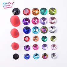 Buy Sweet Dream Red 13pcs Crystal Jewelry Exchange Game Anal Plug Soft Anal Beads Adult Sex Toys Butt Plug Sex Products BLM-303