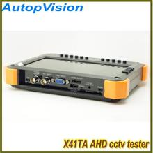 "portable AHD X41TA 7inch"" TFT LED Network Cable Tester CCTV Camera Installation Detection System Security CVBS INPUT"