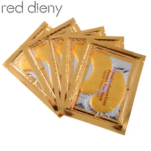 Hot New 5 pair Gold Crystal Collagen Eye Mask Hotsale eye patches The bionic eye black beauty make up Skin care mask Products(China)