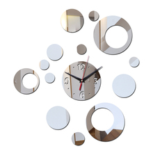 promotion 2017 new arrival wall acrylic clock ring modern design luxury mirror 3d crystal watches living room