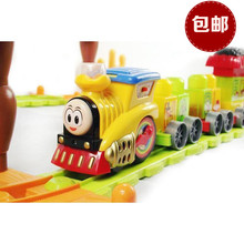 Electrical Set Thomas Train DIY Railway Track Classic Scale Sound&Light Fun Family Game Kid Interest