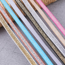5Yards 10mm Wide Lace Elastic Band Ribbon DIY Sewing Accessories Clothing wedding decoration lace fabric Trim Crafts