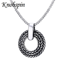 Mens Necklaces Stainless Steel Europe fashion Round Pendant Necklace for Men Vintage Punk Rock Bike Jewelry best gift