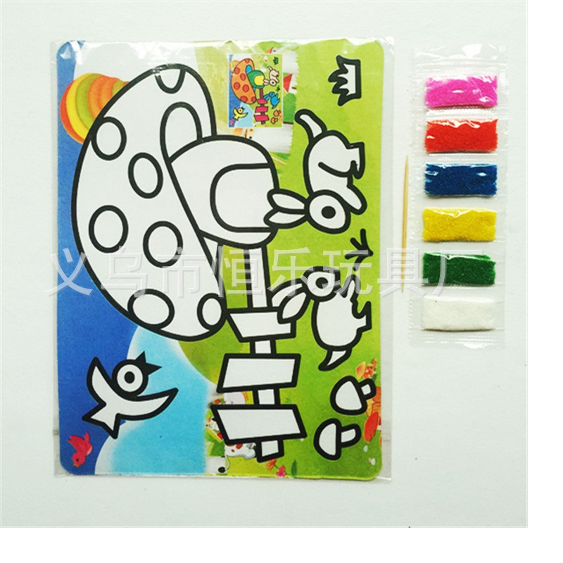 5Pcs DIY New Sketchers Large Sand Painting Baby Drawing Kids Graffiti Puzzle Toys Coloring Paint Board The Best Draw Toy(China)