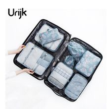 Urijk 8PCs/Set Flamingo Travel High Capacity Clothes Tidy Pouch Luggage Organizer Waterproof Storage Case Cosmetic Container(China)