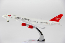 plane model B747  The British Virgin Atlantic Airways aircraft B747 Metal simulation airplane model for kid toys Christmas gift