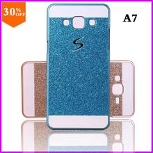 cheap case to phone for samsung galaxy a7 a700 mobile case luxury by bling sparkling glitter cover for sumsung galaxy a7 a 7(China)