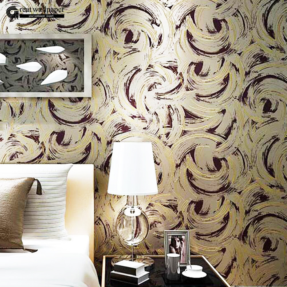 Simple modern abstract silk non-woven wallpaper bedroom living room TV meal back backdrop circle wall papers home decor<br>