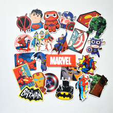 25 pcs Super Hero Marvel Batman Cartoon Safe Toys Cool Stickers For Kids Children Luggage Notebook Laptop Sticker Car-Styling
