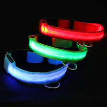 DHL Free Shipping 50 pieces/lot LED Dog Pet Collar Cat Necklace LED Flashing Pet Collar Pets Gift Wholesale Bulk Price