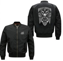 High quality Spring autumn men's leisure brand Jacket Air Force pilots harley-davidson Jacket Baseball Uniform Outerwear