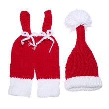 2pcs/Set Baby Photography Props 2017 Hot Sale Newborn Kids Soft Hat+Romper 2pcs Warm Crochet Knit Costume Clothes Set For 0-4M(China)