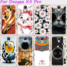 Cases For DOOGEE X9 Cover X9 Pro 5.5 inch Soft TPU Silicon Cat With Black Glasses Anti-Skidding Cell Phone Bags Hood Housing