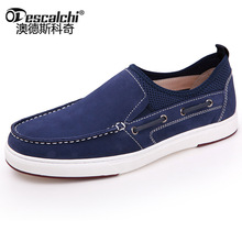 Odescalchi 2017 Mens smart casual brand leather docksides deck boat shoes mens flat slip ons loafers(China)
