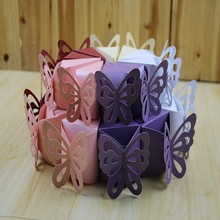 Cute 10 pcs Triangle butterfly paper candy chocolate gift box for wedding birthday party favor