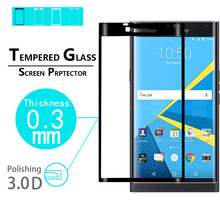 "BEST Anti-Shatter 3D full Curved Tempered Glass Film for BlackBerry Priv 5.4"" full cover high clear Screen Protector films"
