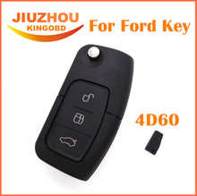 MAYITR 3 Button Flip Remote Key Fob Folding Keyless Entry 4D60 Chip for Ford BA Falcon FPV XR6 SX Territory Replacement Car Key(China)