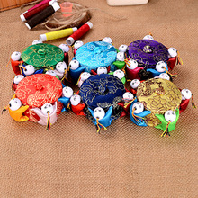wholesale 10PCS Chinese HANDMADE Silk Sewing Tool vintage pin Cushion with 5 cute kids