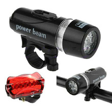 Hight Quality New 5 LED Bicycle Mountain Bike Lamp Set Lights Front Rear Bike Lights LB SS