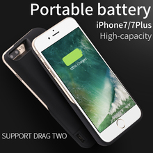 "5800mAh Portable Charging Case Rechargeable Power Bank Extended Battery Charger Case Cover for Apple iPhone 7 4.7""."