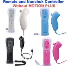 New Remote and Nunchuk Controller Game Controller with Protective Silicone Case for Wii 4 Colors without Retail package(China)