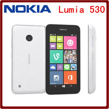 Original Unlocked Nokia Lumia 530 Cell Phone Windows OS Dual sim cards 4GB Storage 5.0MP camera 4.0 IPS screen Free shipping(China)