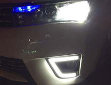 FREE SHIPPING, CHA FOR 2014 COROLLA ALTIS SPECIAL LED DAYTIME RUNNING LIGHT G11 FOG LAMP DRL