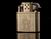 Vintage metal oil lighter,High quality copper gasoline cigarette lighter,can put in cigarette box