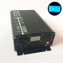 1000W Power Inverter Peak 2000W 12V DC to 120V AC 60HZ Off Grid Pure Sine Wave with LCD Display USB Port USA Output Sockets
