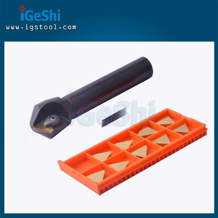 New 20mm 45 degree indexable chamfer End mill cutter with 10pcs Carbide inserts<br>