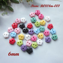 Mini buttons 144pcs 6mm one / mixed color flower little doll buttons for toy diy sewing material craft scrapbooking accessories(China)