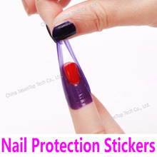 10stickers 1Sheet Nail Protector Decal Protection Sticker Pro Manicure Finger Nail Art Design Tips Cover Polish Shield Palisade