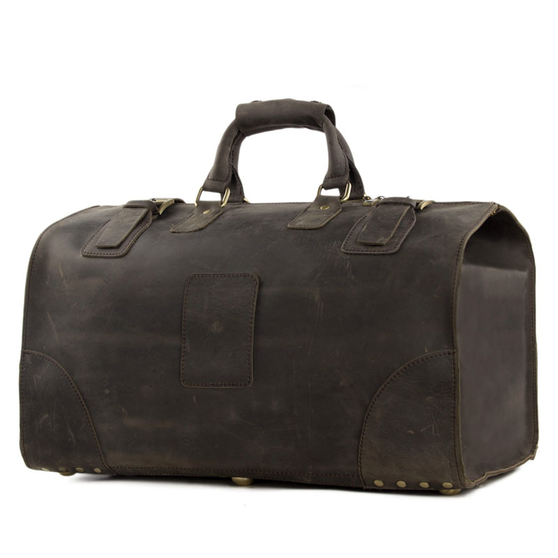 ROCKCOW Vintage Crazy Horse leather men travel bags big luggage   bags  duffle bags Large tote 3151 f13aad0ee2f2a