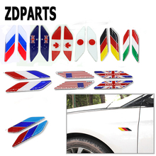 ZDPARTS 2X Car styling Flag Window Fender Door Side Stickers Mercedes Benz W203 W204 211 AMG Smart Starline A93 Citroen C4