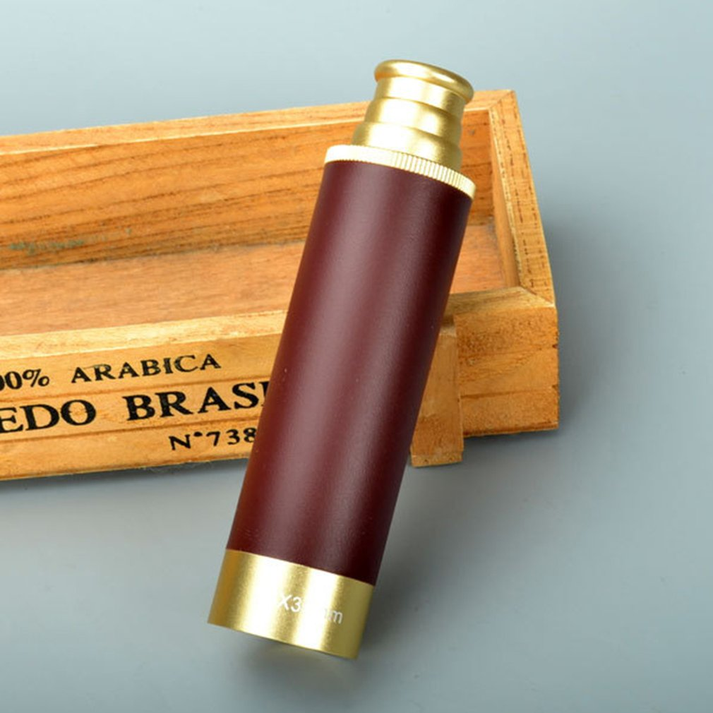Telescope Monocular Maritime Pirates-Of-The-Caribbean Outdoor Brass Spyglass Camping title=