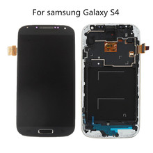 Top quality LCD For samsung galaxy s4 gt-i9500 i9505 LCD display Touch Screen with Digitizer assembly with frame freeshipping(China)
