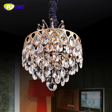 FUMAT K9 Crystal Pendant Light Modern Lustre Crystal Suspension Light LED Living Room Dinning Room Drop Lights Pendant Lamps