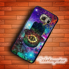Capa Nebula Hamsa Hand Case for Samsung Galaxy Note 7 5 4 3 Case Cover for Galaxy S7 S6 S5 S4 S3 Mini Active Case.