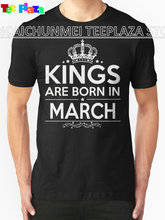 2017 Rushed Hot Sale Fashion O-neck Cotton Knitted Teeplaza Shirt Design Men Short-sleeve Kings Are Born In March Tee Shirts