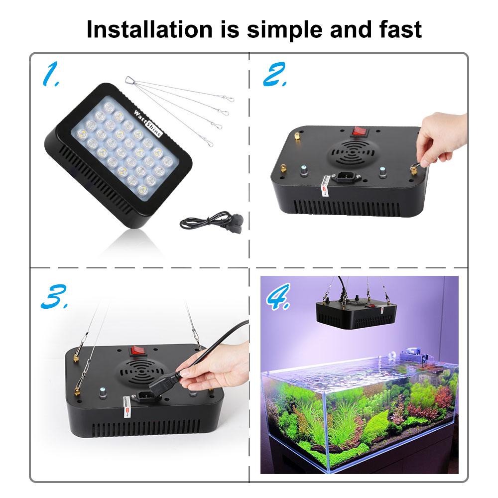 Marine aquarium coral 140W Led aquarium lighting fixtures Dimmable lamp Fish aquatic tank Lamp dimmer control Aquatic plant pots