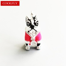 Pink France Tiger Dog Charms Thomas Style Bulldog DIY Fashion Jewelry Accessories Club Fit Bracelets & Bag Ts Gift Breloque