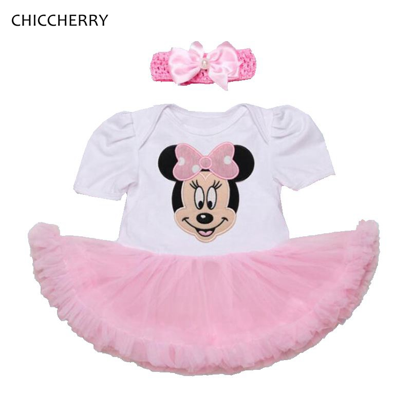 Cute Minnie Toddler Girl Clothes Cartoon Baby Lace Romper Dress 1 Year Birthday Outfits Headband Set Vestido Bebe Infant-clothes<br><br>Aliexpress