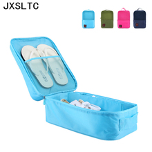 HOT Portable Waterproof Football Golf Sports Shoe Organizer Travel Nylon Shoe Pouch Storage Bag tote box Case For 3 Pair Shoes(China)